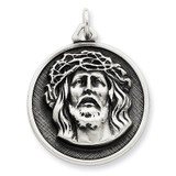 Ecce Homo Medal Antiqued Sterling Silver MPN: QC3449