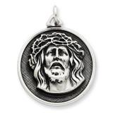 Ecce Homo Medal Antiqued Sterling Silver MPN: QC3449