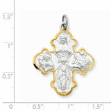 4-way Medal Sterling Silver QC3463