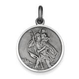 Saint Christopher Medal Antiqued Sterling Silver MPN: QC3544
