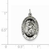 Saint Christopher Medal Sterling Silver QC3556
