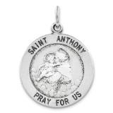 Saint Anthony Medal Antiqued Sterling Silver MPN: QC3578