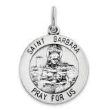 Saint Barbara Medal Sterling Silver MPN: QC3584