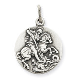 Saint George Medal Antiqued Sterling Silver MPN: QC3588