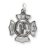 Saint Florian Badge Medal Sterling Silver MPN: QC3590
