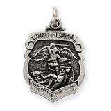 Saint Michael Badge Medal Sterling Silver MPN: QC3612