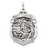 Saint Michael Badge Medal Sterling Silver MPN: QC3613