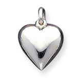 Puffed Heart Charm Sterling Silver MPN: QC3705