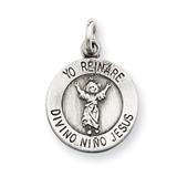 Divino Nino Medal (Divine Infant Jesus) Sterling Silver MPN: QC5476