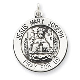 Holy Family Medal Antiqued Sterling Silver MPN: QC5478
