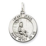 Infant Jesus Medal Antiqued Sterling Silver MPN: QC5479