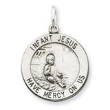 Infant Jesus Medal Antiqued Sterling Silver MPN: QC5479
