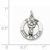 Divino Nino Medal (Divine Infant Jesus) Sterling Silver QC5487