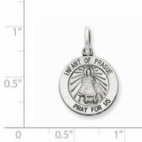 Infant of Prague Medal Antiqued Sterling Silver QC5492