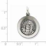 Ecce Homo Medal Antiqued Sterling Silver QC5493