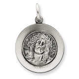 Ecce Homo Medal Antiqued Sterling Silver MPN: QC5493