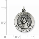 Ecce Homo Medal Antiqued Sterling Silver QC5494