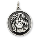Ecce Homo Medal Antiqued Sterling Silver MPN: QC5495