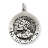 Jesus Have Mercy Medal Sterling Silver MPN: QC5498