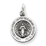 Miraculous Medal Antiqued Sterling Silver MPN: QC5500