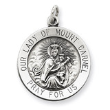Our Lady of Mount Carmel Medal Antiqued Sterling Silver MPN: QC5578
