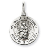 De La Providencia Medal Antiqued Sterling Silver MPN: QC5588