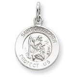 Saint Christopher Medal Sterling Silver MPN: QC5610