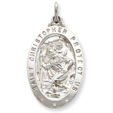 Saint Christopher Medal Sterling Silver MPN: QC5619