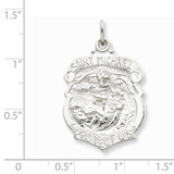 Saint Michael Badge Medal Sterling Silver QC5624