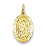 Saint Christopher Medal 24k Gold-plated Sterling Silver MPN: QC5625