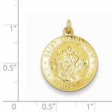 Saint Christopher Medal 24k Gold-plated Sterling Silver QC5636