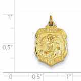 Saint Michael Badge Medal 24k Gold-plated Sterling Silver QC5650