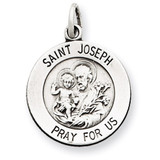 Saint Joseph Medal Antiqued Sterling Silver MPN: QC5684