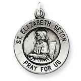 Saint Elizabeth Seton Medal Antiqued Sterling Silver MPN: QC5714