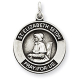 Saint Elizabeth Medal Antiqued Sterling Silver MPN: QC5715