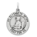 Saint Elizabeth Seton Medal Antiqued Sterling Silver MPN: QC5716