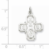 4-way Medal Sterling Silver QC5804
