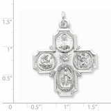 4-way Medal Sterling Silver QC5807