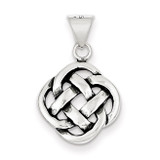 Celtic Knot Pendant Antiqued Sterling Silver MPN: QC7007