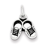 Childs Shoe Charm Antiqued Sterling Silver MPN: QC7526