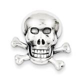 Skull with Cross Bones Pendant Sterling Silver MPN: QC7879