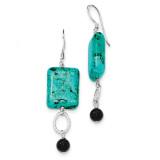 Black Agate& Blue Howlite Earrings Sterling Silver MPN: QE5546