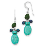 Aventurine Dyed Howlite Turquoise Blue Jade Earrings Sterling Silver MPN: QE6406