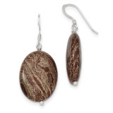 Brown Jasper Earrings Sterling Silver MPN: QE7594