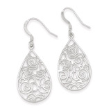 Filigree Dangle Earrings Sterling Silver Polished MPN: QE9097