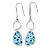 Blue Preciosa Crystal Dangle Earrings Sterling Silver MPN: QE9659