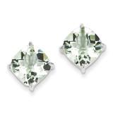 Green Quartz Earrings Sterling Silver MPN: QE9808AG