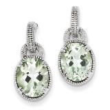 Green Quartz Earrings Sterling Silver MPN: QE9820AG