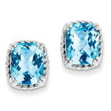Blue Topaz Earrings Sterling Silver MPN: QE9826BT