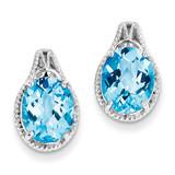Blue Topaz Earrings Sterling Silver MPN: QE9830BT
